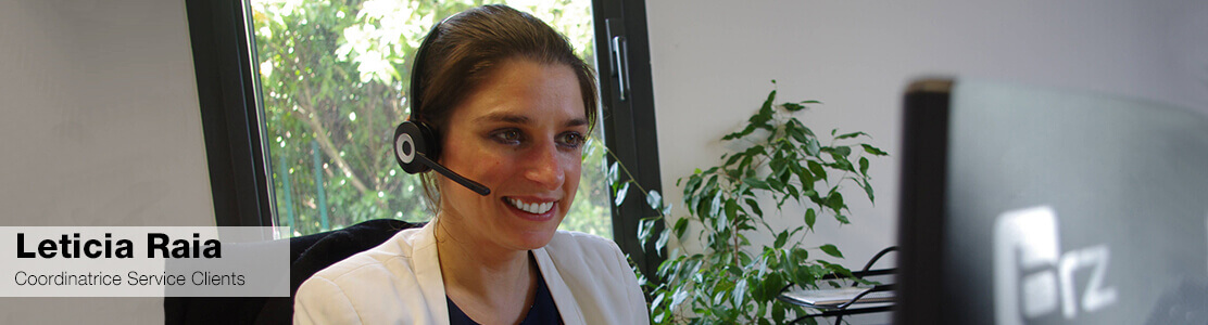 Leticia Raia, au service clients BRZ France
